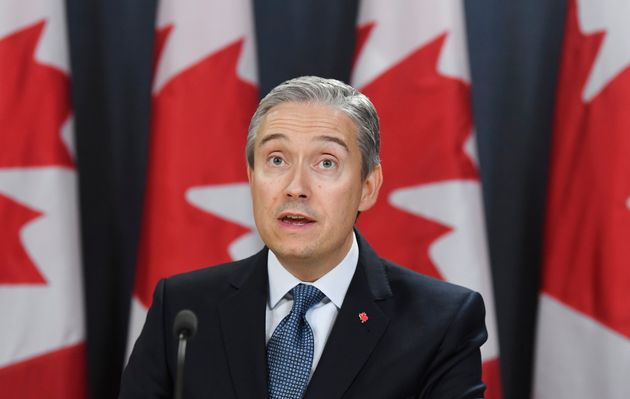 Foreign Affairs Minister Francois-Philippe Champagne updates reporters on the evacuation of Canadians...
