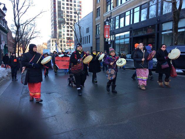Montréal: une manifestation en solidarité avec