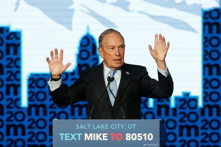 Democratic presidential candidate and former New York City Mayor Michael Bloomberg speaks during a campaign event on Feb. 20,