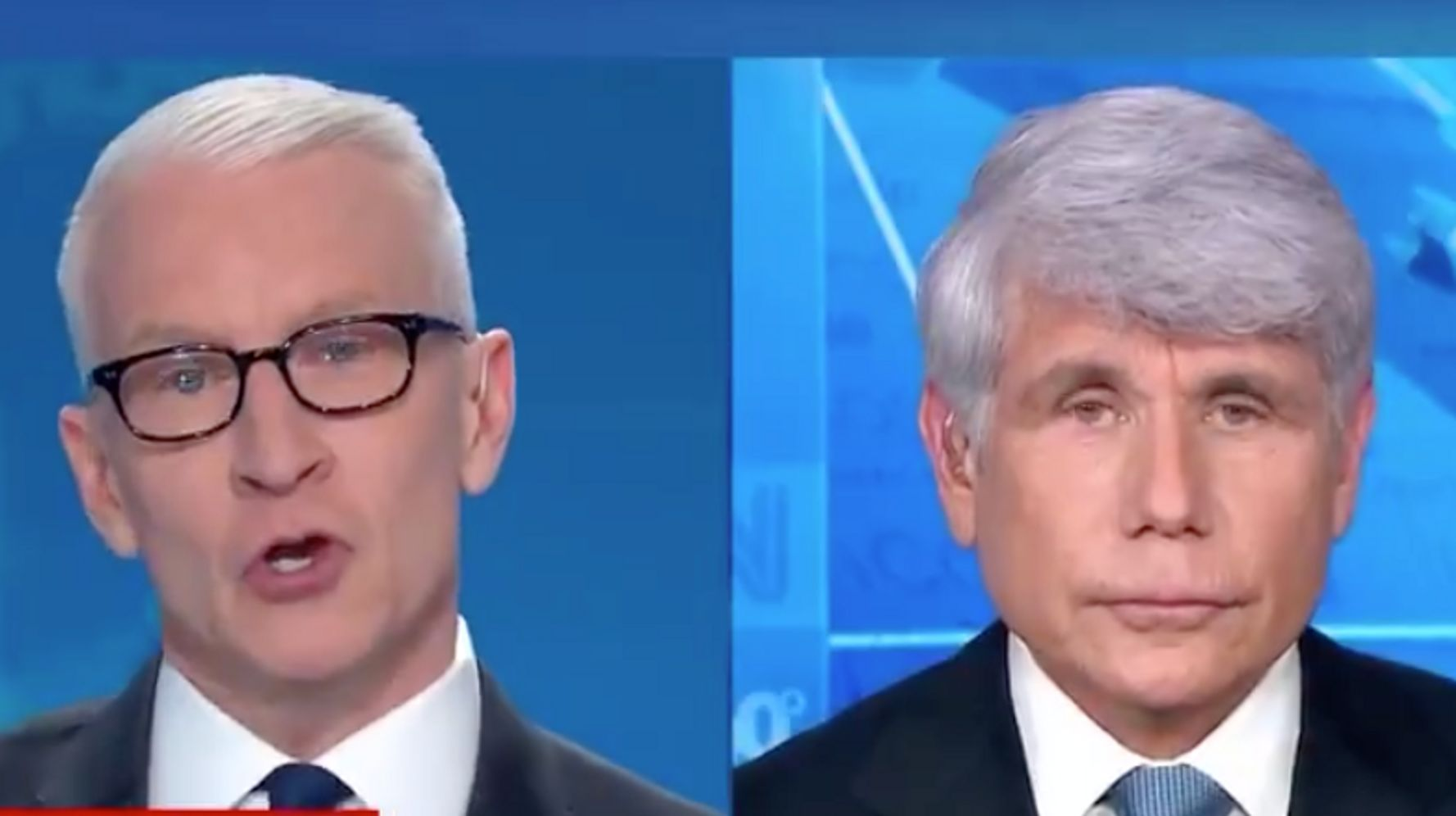 Anderson Cooper Calls 'Bulls**t' On Rod Blagojevich During Live Interview