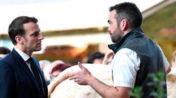Au Salon de l'Agriculture, Macron au chevet des victimes des tensions