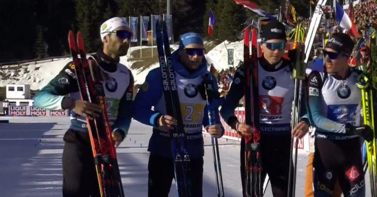 La France championne du monde de biathlon en relais hommes, 13e or pour Fourcade