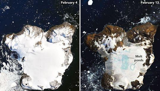 La NASA dévoile des images des «jours les plus chauds jamais enregistrés» en