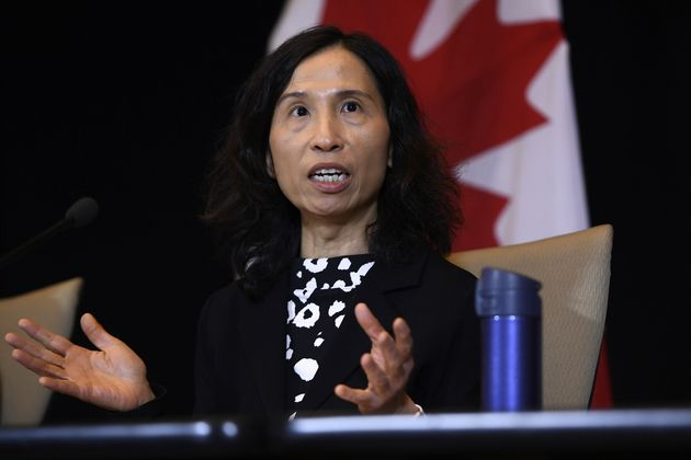 Dr. Theresa Tam participates in a press conference in Ottawa, on Jan. 26,