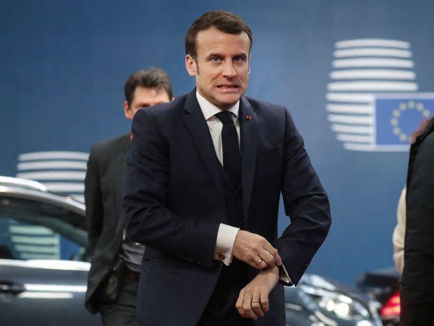 Emmanuel Macron, ici le 21 février à Bruxelles, s'est montrépessimiste sur...