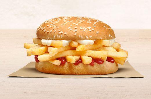 バーガーキングがニュージーランドで販売開始したフライドポテトバーガー「チップ・バティ」