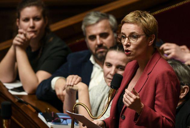 Clémentine Autain à l'Assemblée nationale le 11 février