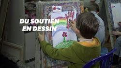 Ces enfants russes dessinent en soutien aux malades et aux médecins contre le