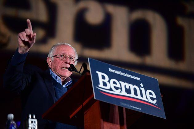 Sen. Bernie Sanders (I-Vt.) speaks at a campaign rally on Feb. 21, 2020, in Las