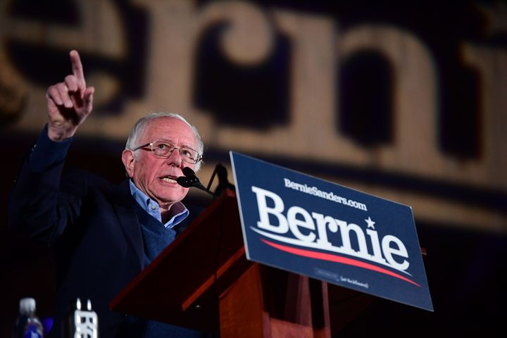Sen. Bernie Sanders (I-Vt.) speaks at a campaign rally on Feb. 21, 2020, in Las Vegas.