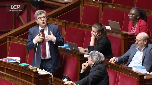 Jean-Luc Mélenchon à l'Assemblée nationale dimanche 23