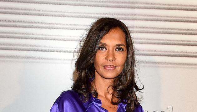 Karine Le Marchand au défilé Jean-Paul Gaultier le 22 janvier 2020 (photo
