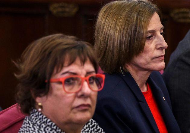 Bassa y Forcadell, durante el juicio del