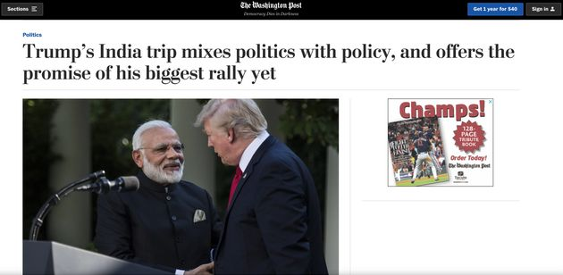 What American Media Said Ahead Of Donald Trump's India