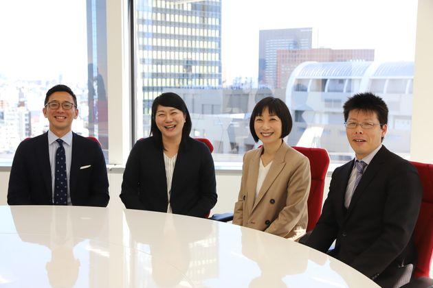 左から、JR東日本の天内義也さん、楠原千佳子さん、UR都市機構の山口香世さん、田中利幸さん