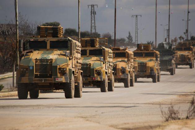 Είσοδος μεγάλης τουρκικής στρατιωτικής οχηματοπομπής στην Ιντλίμπ της