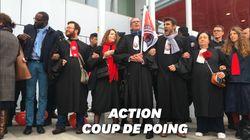 Les avocats bloquent l'accès au tribunal, le procès Fillon