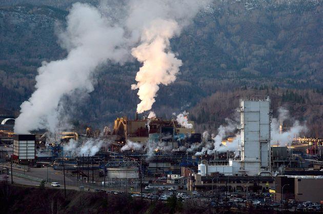 La fonderie de la minière Teck à Trail en Colombie-Britannique. (photo