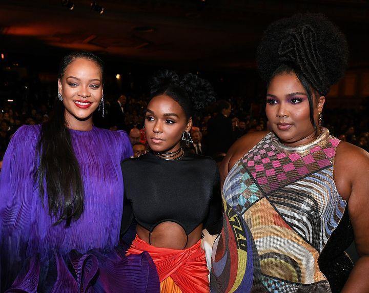 Ριάνα, Τζανέλ Μονά και Lizzo στα NAACP Image Awards 2020.