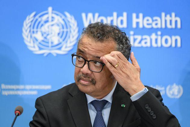 Le directeur général de l'OMS, Tedros Adhanom Ghebreyesus, a tenu une conférence...