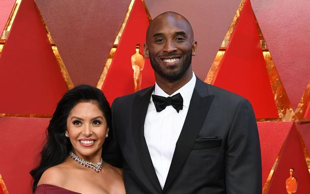 US basketball player Kobe Bryant (R) and his wife Vanessa Laine Bryant arrive for the 90th Annual Academy...
