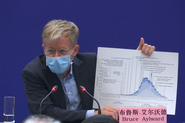 Bruce Aylward, assistant director-general of the World Health Organization, speaking at a news conference...