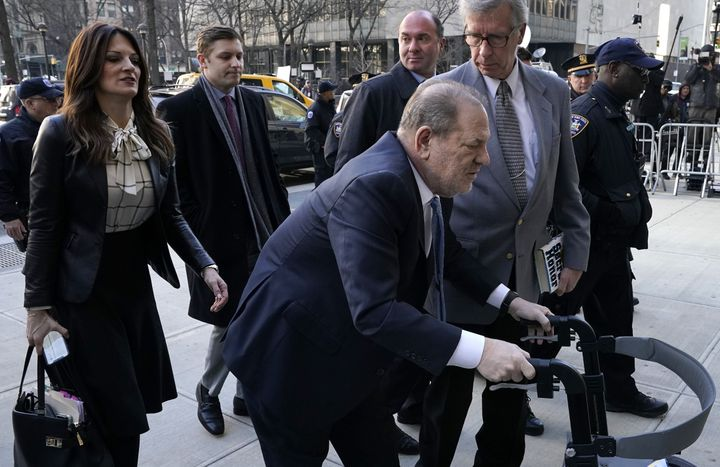 Harvey Weinstein arrives Monday at the Manhattan Criminal Court. The jury had told the judge Friday it was struggling to reac