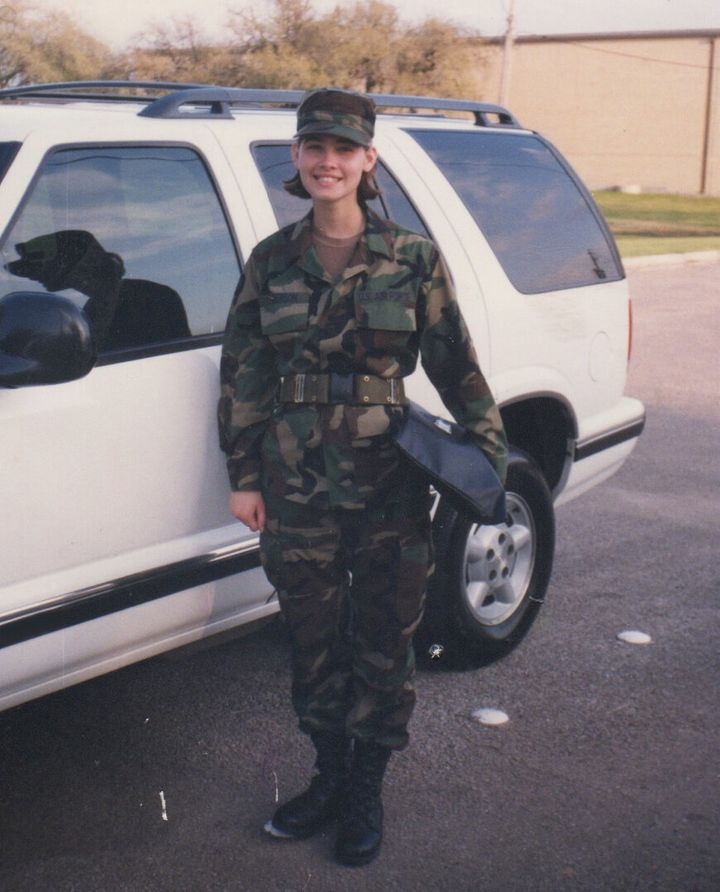 Graduation from Basic Training in San Antonio, Texas (1998).