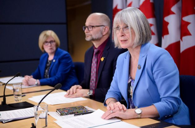 Health Minister Patty Hajdu during a press conference at the National Press Theatre in Ottawa on Feb....