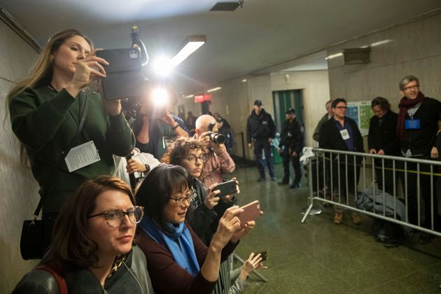 New York Post reporter Rebecca Rosenberg, top, CBS Network News producer Cassandra Gauthier, left, Court...