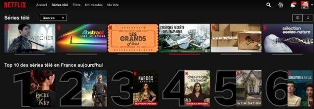 Sur Netflix, vous pouvez désormais savoir quels sont les 10 films et séries les plus