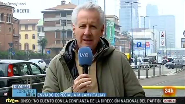 Lorenzo Milá, en 'Los Desayunos' de TVE el martes 25 de febrero de