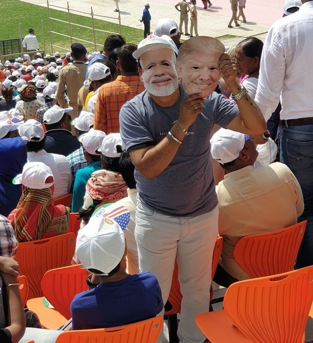A Mumbai-based businessman, who had masks of both Trump and Modi, said he was