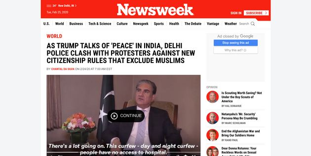 What Foreign Media Said On Delhi Violence And Donald Trump's India