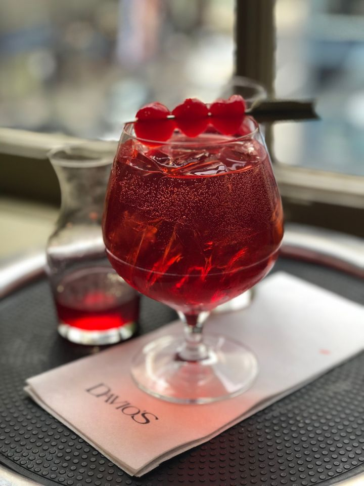 The Shirley Temples at Davio's in Atlanta are made with a mixture of lemon-lime soda and ginger ale.