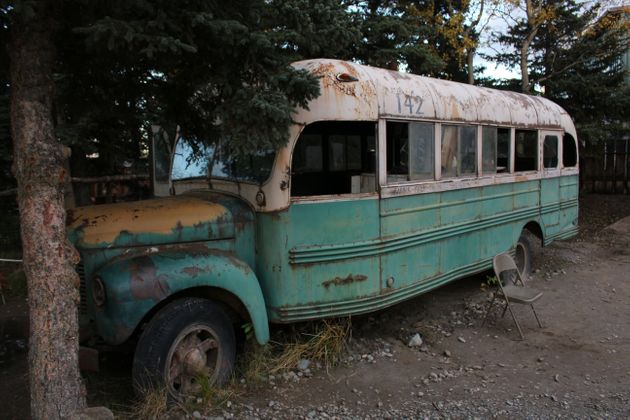 USA, Alaska: The original film bus from Into the