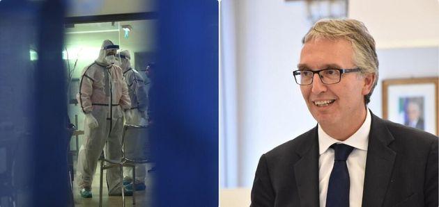 Sanitari che trattano i casi di coronavirus - il governatore delle Marche