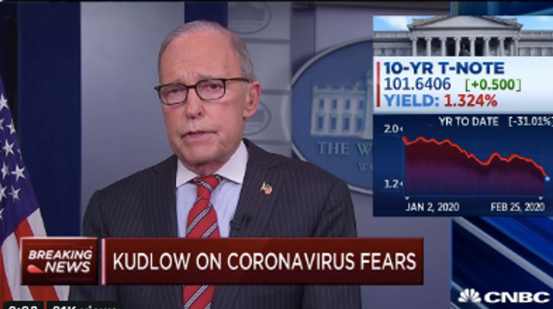 Westlake Legal Group 5e557218230000da080bf236 Larry Kudlow Claims Coronavirus 'Contained' In U.S. As CDC Warns Of Likely Spread