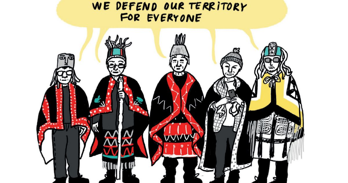 ケベック州のアーティストChloloulaが先住民の抗議行動の根本原因に関するコミックを作成