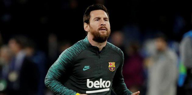 Leo Messi antes del