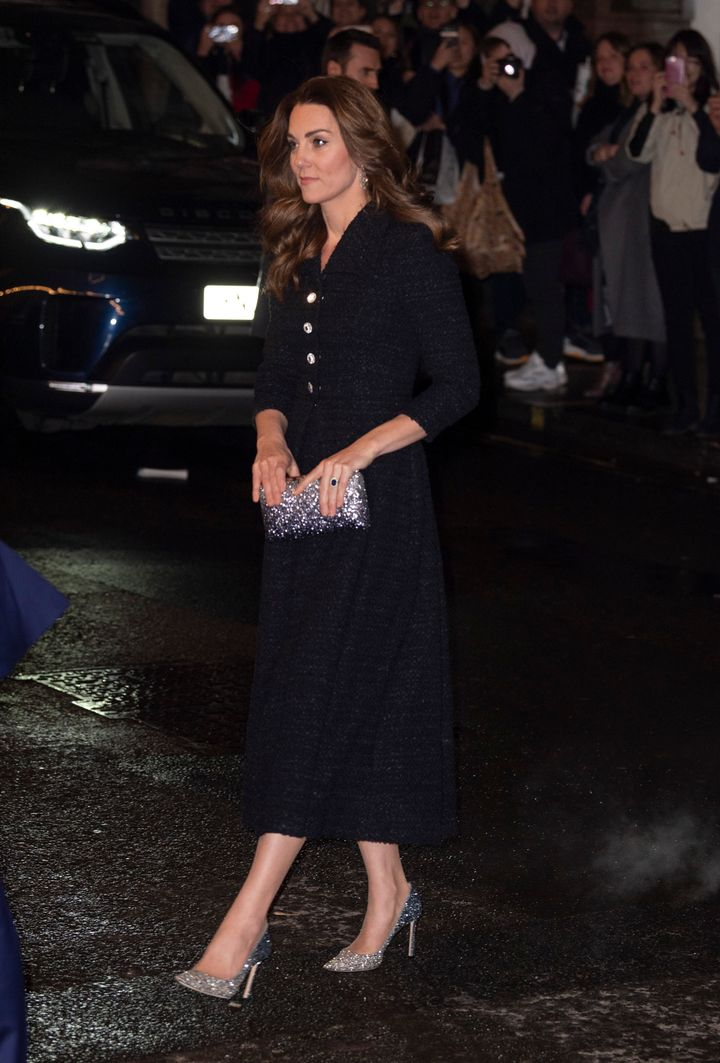 """The Duchess of Cambridge attends a charity performance of """"Dear Evan Hansen"""" in aid of The Royal Foundation at Noel Coward Th"""