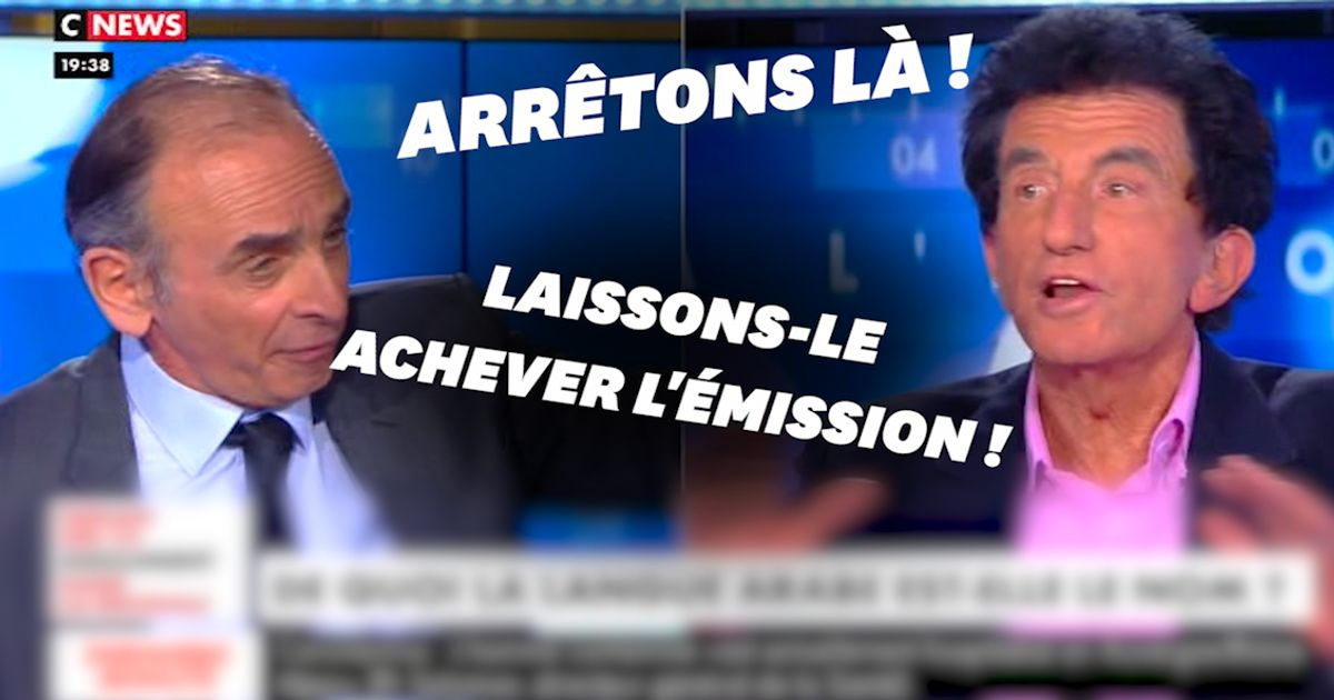 Sur CNews, Zemmour et Lang s'écharpent sur la langue arabe
