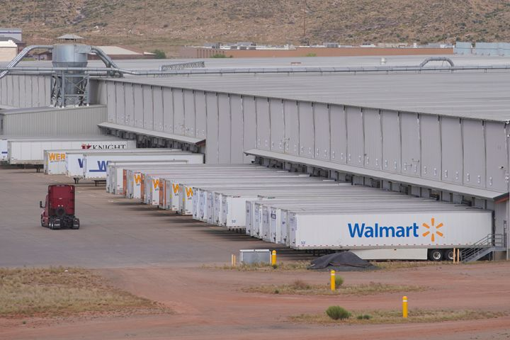 A large regional Walmart distribution center in Washington, Utah. Walmart has announced one-day delivery and other services t
