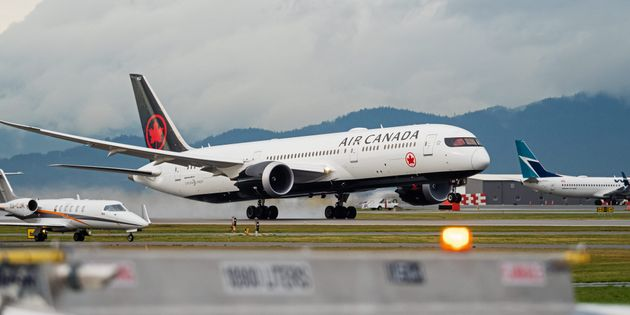 An Air Canada Boeing 787-9 airliner takes off from Vancouver International Airport, Richmond, B.C., Fri....