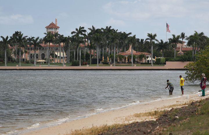 President Trump's Mar-a-Lago resort on April 3, 2019, in West Palm Beach, Florida.