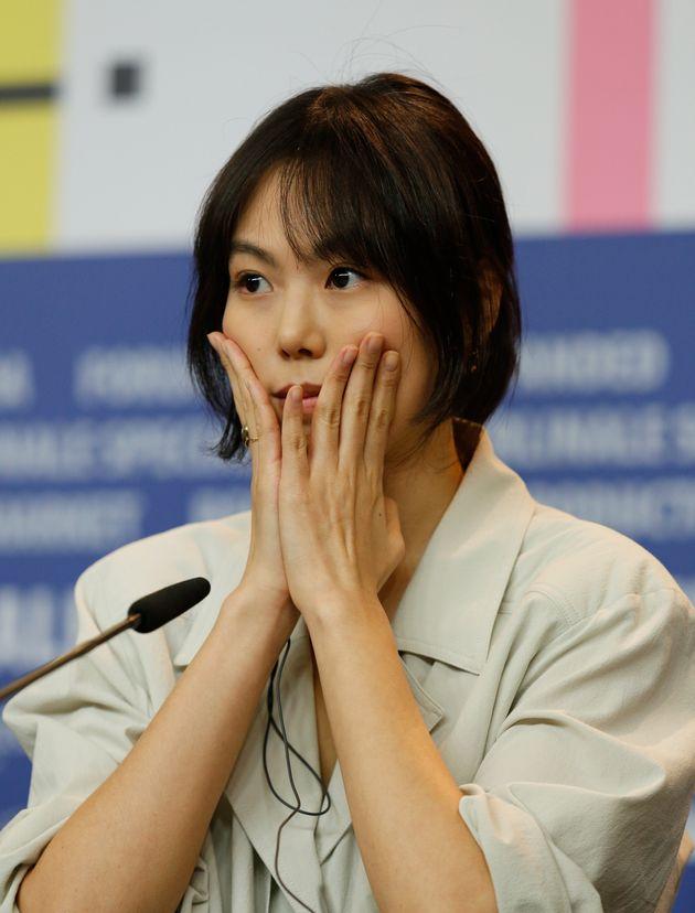 홍상수 김민희가 새 영화 '도망친 여자'로 베를린영화제를 찾았다