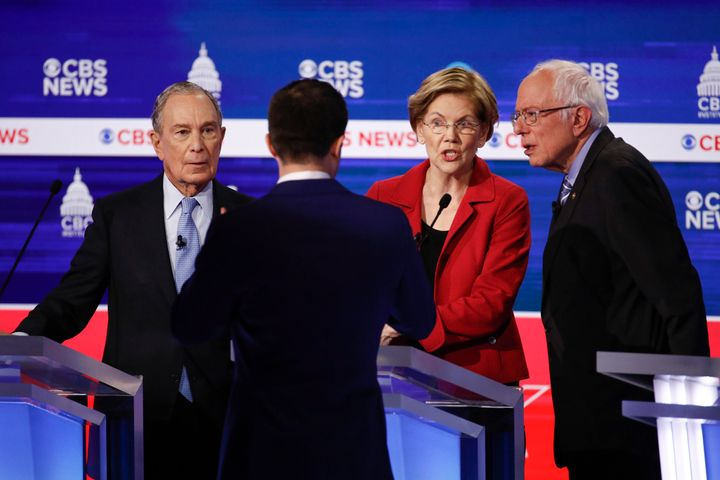 Former New York Mayor Mike Bloomberg, former South Bend, Indiana, Mayor Pete Buttigieg, Sen. Elizabeth Warren (D-Mass.) and S