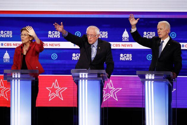 버니 샌더스는 엘리자베스 워렌을 제치고 민주당 내 진보 진영을 대표하는 후보라는 자리를 일찌감치 굳히며 중도 후보들이 난립한 경선 레이스에서 선두를 질주하고