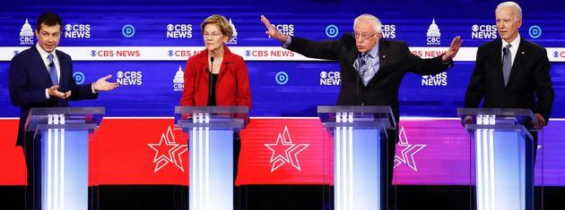 Imagen del debate demócrata del pasado martes en