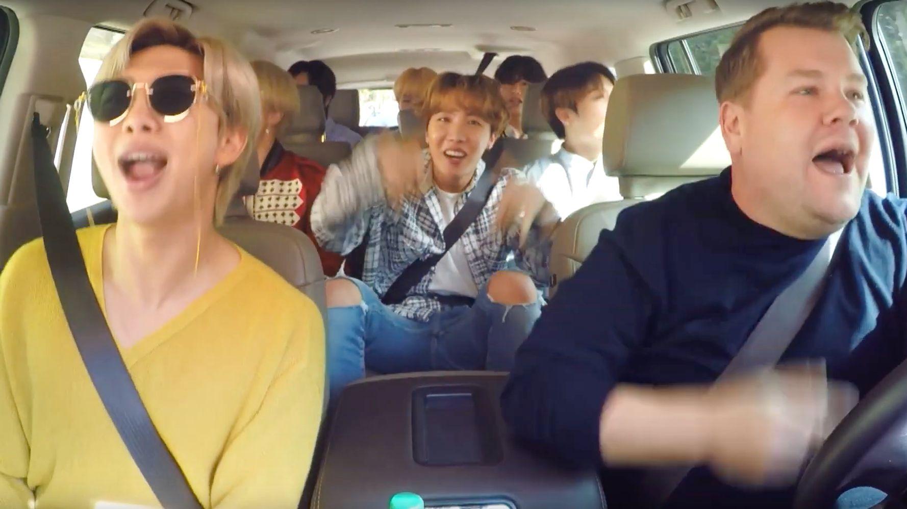 BTS Sings 'Finesse' On 'Carpool Karaoke' And Cardi B Can't Handle It